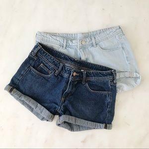 H&M Cuffed Shorts (Set of 2)